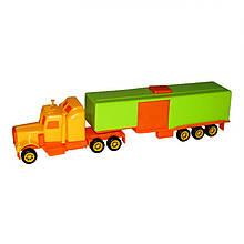 Мини трак Автотрейлер, зеленый с желтым «Maximus» (5168)