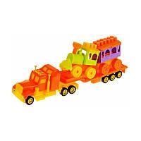 Игрушечные машинки и техника «Maximus» (5166) Мини трак Прицеп, оранжевый