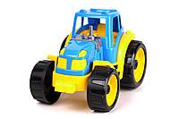 Игрушечные машинки и техника «ТехноК» (3800) Трактор, синий