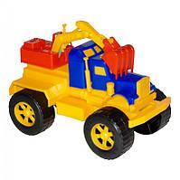 Игрушечные машинки и техника «Maximus» (5160) Экскаватор Трак, желто-синий