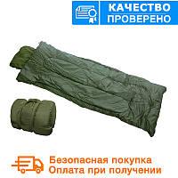 Спальный мешок Mil tec Pilot OD Olive (до -10) с чехлом (185х75 см) (14101001), фото 1