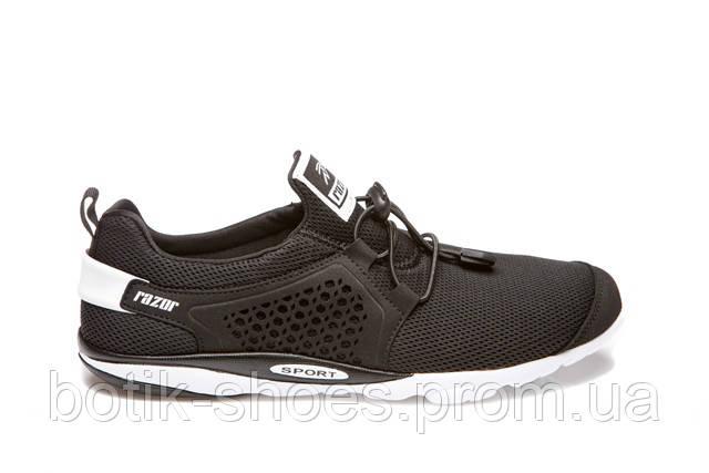 fe347240 Мужские модные черные кроссовки текстиль сетка Razor 18706 -  интернет-магазин обуви