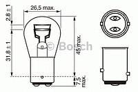 Лампа P21/5W 12V  W-V 1987302202 BOSCH