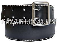 Ремень поясной портупейный 1,3 м черный (кожа спилок)