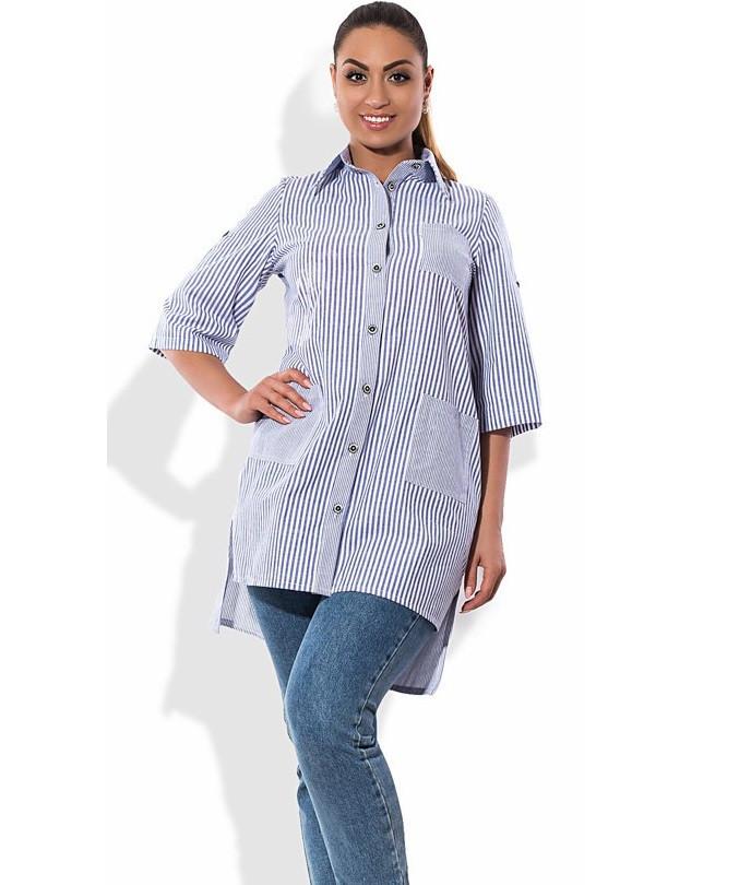 Рубашка в стиле фрак размеры от XL 3083