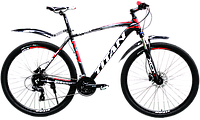 """Горный велосипед найнер TITAN Egoist 21"""" 29"""" (Black-Red-Gray)"""