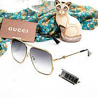 Брендовые женские очки Gucci Гуччи капли квадратные со светлыми стеклами e19fdc5a599