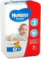 Подгузники HUGGIES Classic 3 4-9 кг 16 шт.