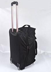 Дорожная сумка средняя на колесах  фирмы Happy People 2732, черная