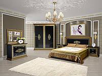 Спальня Софія ЛЮКС чорний глянець 4Д СВІТ МЕБЛІВ, фото 1