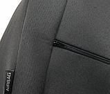 Автомобильные чехлы Chevrolet Lacetti 2003- (sedan) (тёмно-серые) Nika, фото 5