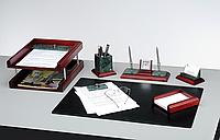 Набор настольный 6 предметов Bestar красное дерево и мрамор, 6287WDM