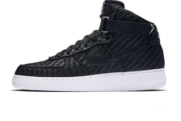 87ae74bb Мужские кроссовки Nike Air Force 1 High LV8 Woven Black/White (Реплика ААА+