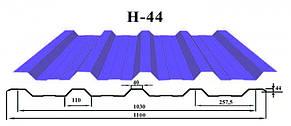 Профнастил c полимерным покрытием Н-44 0.45 мм, фото 2