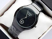 Кварцевые наручные часы Rado Jubile черного цвета, с датой, фото 1