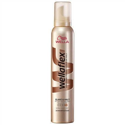 Піна для волосся сильної фіксації Wellaflex Glanz & Halt 200 ml, фото 2