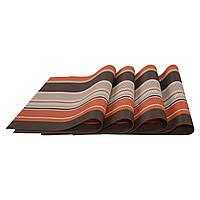 Комплект из 4-х сервировочных ковриков (оранжевый), фото 1