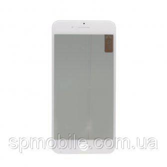 Стекло с рамкой и пленкой OCA Apple iPhone 7 Plus белая