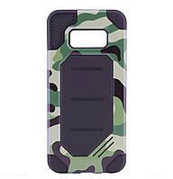 Бронированный противоударный TPU+PC чехол MOTOMO (Military) для Samsung Galaxy S8 SM-G950 Сamouflage/Green