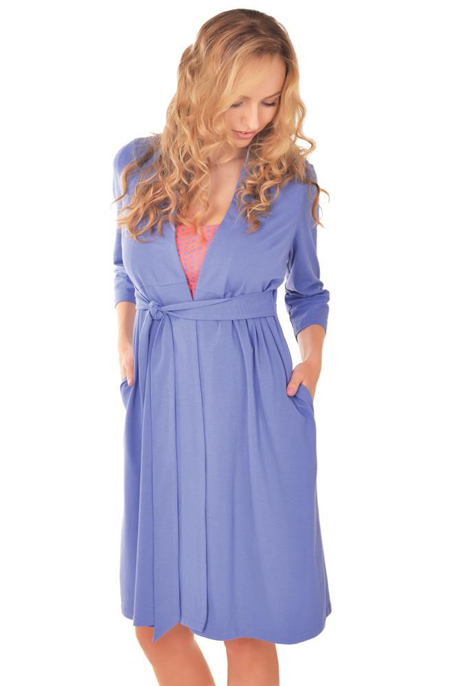 Набор для беременных и кормящих (халат+ночная рубашка) размер L
