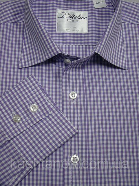 Бузкова приталені сорочка