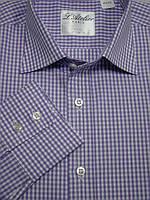 Сиреневая  приталенная рубашка