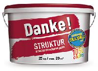 """Фасадная акриловая силиконмодифицированная штукатурка с фактурой """"шуба"""", Danke! Struktur, 25кг"""