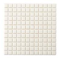 Молочно-белая стеклянная мозаика   White MK25101 25х25 мм.