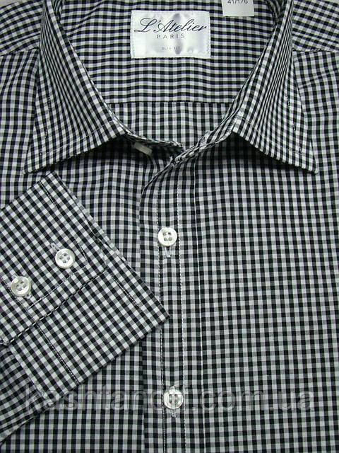 Рубашка в чёрную клетку