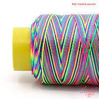 Шелковая нитка меланж 0,8мм для плетения для рукоделия