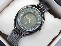 Женские кварцевые наручные часы Swarovski CRYSTALLINE OVAL черного цвета