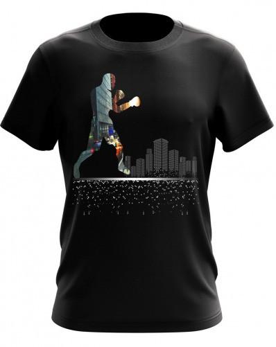 "Качественная мужская  футболка ""BOXING"" ( MF-28-16)"