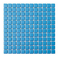 Голубая стеклянная мозаика   Sky Blue MK25102 25х25 мм.