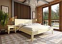 Ліжко півтораспальне з натурального дерева в спальню, дитячу Глорія (низьке узніжжя) ДОК, фото 2