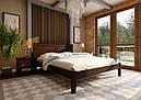 Ліжко півтораспальне з натурального дерева в спальню, дитячу Глорія (низьке узніжжя) ДОК, фото 4