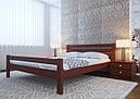 Ліжко півтораспальне з натурального дерева в спальню, дитячу Глорія (низьке узніжжя) ДОК, фото 6