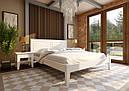 Ліжко двоспальне з натурального дерева в спальню Глорія (низьке узніжжя) ДОК, фото 2