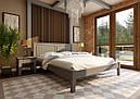 Ліжко двоспальне з натурального дерева в спальню Глорія (низьке узніжжя) ДОК, фото 6
