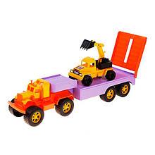 Автотрейлер Трак, оранжевый с сиреневым «Maximus» (5162)