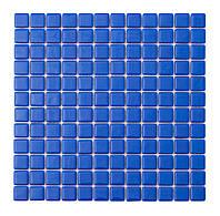 Синяя стеклянная мозаика   Blue MK25103 25х25 мм.