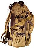 Рюкзак туристический  1223 Козак 75 литров хаки, фото 4