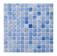 Красивая стеклянная мозаика   Blue PW25203 25х25 мм.
