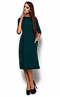 S (44) / Женское классическое платье-миди Suzana, зеленый