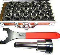 Цанговый патрон ER32 МК3 (MT3) с комплектом цанг 3-20 мм (ER32), 18 цанг в комплекте