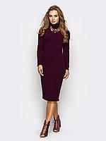 S-M, M-L / Стильное трикотажное платье Tirra, бордо