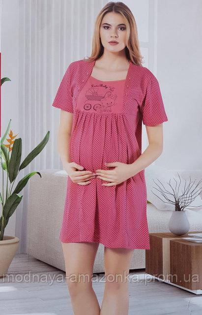 Ночнушка женская туника для кормящих мам SIS- 272 - Интернет - магазин
