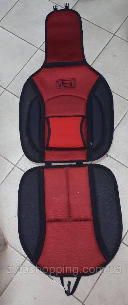 Накидка на  автомобильное сиденье Vitol 1 шт Черно-красная