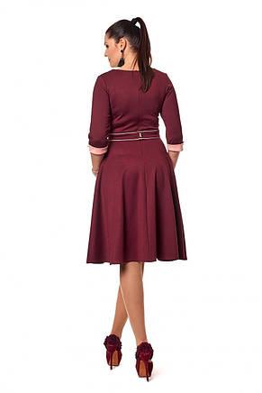 Стильное приталенное трикотажное платье с пышной юбкой, фото 3