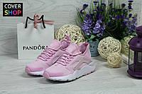 Кроссовки женские Nike Air Huarache, материал - плотная сетка, розовые