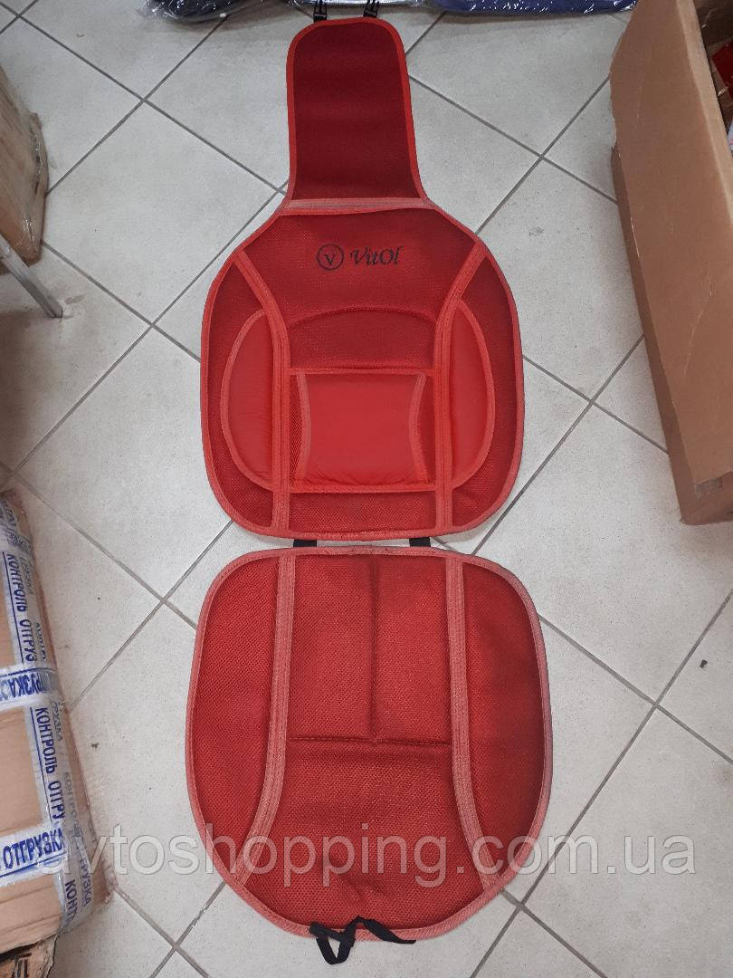 Накидка на  автомобильное сиденье Vitol 1 шт Красная